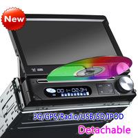 "7"" HD 1 DIN Autoradio Car DVD Player with GPS Navigation Bluetooth 3G IPOD DVR/CAM/DTV-IN KS7088"