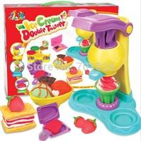Free shipping Hot sale children toy Childice cream double twister toy play set kindergarten toy kinds ice cream double twister