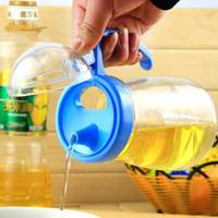 oil bottle oiler 550ml glass bottle vinegar soy sauce seasoning pot leakproof Health kitchenware glass oiler free shipping