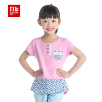 Kids Fashion Girls Clothes Joint Styles T- Shirts Size 6-15 Years