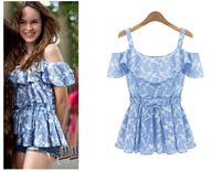 Europe  women's  2014 new summer sling off-the-shoulder fashionable woman coat of cultivate one's morality zy2833