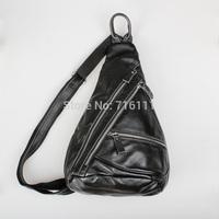 Mens man shoulder bag,genuine leather,unbalance shoulder bag,chest bag,backpacks,satchel bag,small packs,fashion,brown,BB862