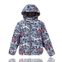 3-10 Years Boy's Jacket Coats:Cartoon Children Printed Outerwear Warm Kids Boy Clothes for Winter,Child Down & Parkas