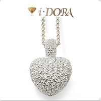 2014 Hot sell diy ts fashion european necklace sets alloys silver plated jewelry for woman diamante heart TA219 silver