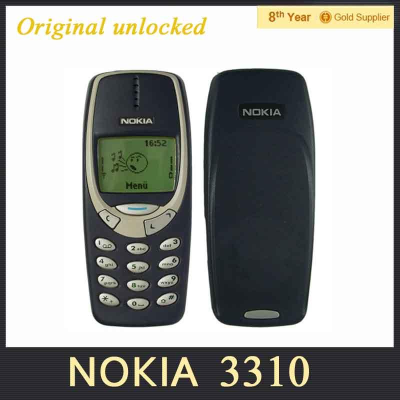 Refurbished NOKIA 3310 Cell Phone GSM 900/1800 DualBand Unlocked Original nokia phone(Hong Kong)