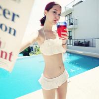 HR008 FREE SHIPPING Bikini split skirt swimwear bikini hot spring swimwear female small steel push up swimwear