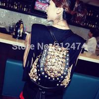 Women backpack PU leather bag women shoulder bag free shipping