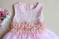 New 2014 girl's princess dress in summer Veil children's  fleabane dress flower girl dress