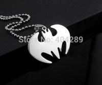 12pcs Stainless Steel Men's Batman Rock N' Roll Hip Hop Necklace Pendant