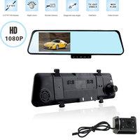 6000C HD1080P H170  Dual Lens Camera Rearview Mirror Viedo Recorder Car DVR Blackbox G-Senser