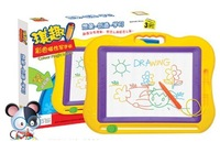 Qi interesting color magnetic drawing board cartoon color oversized large erasable slate tablet for children