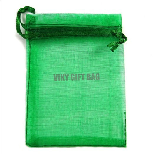 Green Jewelry Packing Drawable Organza Bags 13x18cm,Wedding Gift Bags ...