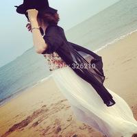 new 2014 fashion summer blouse european style women clothing chiffon blouse rash guards candy color Thin coat Hot Selling
