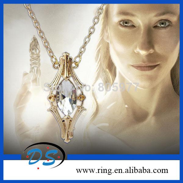 2014 New o Hobbit Tolkien Vial Galadriel cristal colares(China (Mainland))