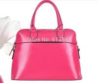 2014 leather euramerican style leisure commute handbag shoulder aslant female bag free shipping