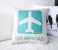"""Free Shipping!3pc/lot Cushion cover Cotton Linen Material Pillow Cover 18"""" mixed design vintage style  House decoration"""