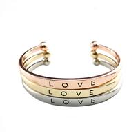 Cheap Promotion!!! Love cuff bangle bracelet  Women Good Quality free shipping S85