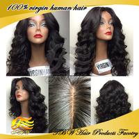 Hot sale!! Loose wave brazilian virgin remy human hair SILK TOP glueless full lace wigs 4*4 inch 130%-150% density free shipping
