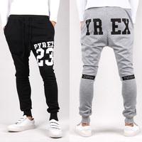 Pyrex sarouel baggy tapered bandana pant hip hop dance harem sweatpants drop crotch pants men parkour sport track trousers