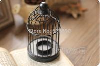 Free Shipping!BLACK color Iron Candle Holder Wedding lantern  Bird cage shape candle Holder Ikea Style Candle holder