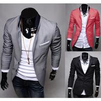 Mens Casual Clothes Slim Fit Stylish Suit Blazer Coats Jackets