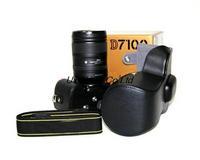 Retro Digital Camera Leather Case for Nikon D7100 - Black