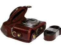 Protective Fitted PU Leather Camera Case Cover Bag for Sony Cyber-shot Dsc-hx50 Hx50v Hx30 coffee