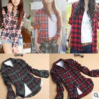 new 2013 Fashion long Sleeve women blouse shirt,Lattice shirts,Single Breasted tops cotton blouse A111