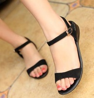 CooLcept free shipping casual falt sandals bohemia female shoes sexy Buckle footwear fashion P11931 EUR size 34-40