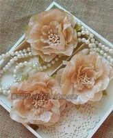 Bohemia Sen female line of new Korean female retro flower head flower jewelry brooch side Envelope simulation flower