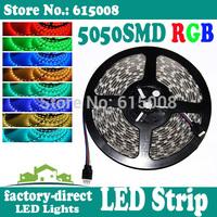 500m 5050 smd rgb led strip light waterproof 300leds/reel 5m/reel dc 12v flexible free shipping