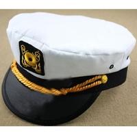 1pc/lot Fashion White Adjustable Yacht Captain Skipper Sailor Boat Cap Costume Men Women Navy Hat CX654600