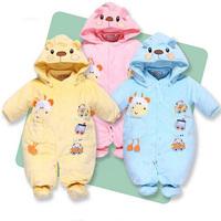 2014 New Cartoon Baby Cotton Warn Romper :Infant Newbron Clothe Baby Rompers Boy Jumpsuit  Windproof Romper ,Baby Rompers Winter
