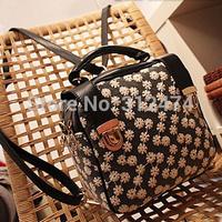 Women backpack PU & lace free shipping