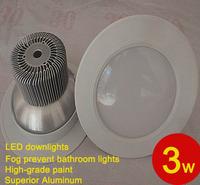 3W 5W white down Light led lighting Anti fog Ceiling 85-265V CE rohs approval