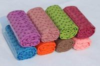 Anti-skid yoga towel yoga blanket Eco-friendly yoga mat 183x63cm multi color gift mesh bag Wholesale Free Shipping A786
