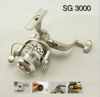 6BB Ball Bearings Left Right Hand Interchangeable Collapsible Handle Fishing Spinning Reel SG3000 5.1:1 for Outdoor Sports