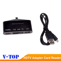 HDTV HD TV Adapter USB OTG Card Reader Connection kit for Samsung Galaxy S3 I9300 S4 I9500 Note 2 - Free Shipping