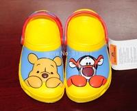Children's summer sandals ,  cartoon Yellow bear boy's cartoon casual slippers  hole shoes