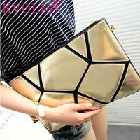 fashion geometric women clutch chain casual shoulder bag evening day clutch Women handbag new 2015 HL1914