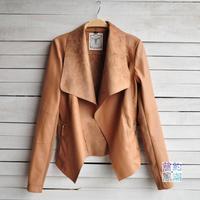 Winter New 2014 Women Leather Jacket Coat Windbreaker Short PU Jackets for Female jaqueta de couro Black Brown Autumn CW0162