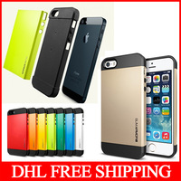 50pcs/lot SPIGEN SGP Slim Armor Case for iPhone 5 Free DHL Shipping
