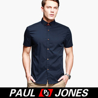 Free Shipping Wholesale PJ Men's Fashion Stylish & Slim Fit Short Sleeve Shirt Tops 4 Size XS~L CL5614