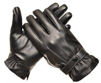 2014 Men PU leather Gloves,Screen Touch Gloves For Iphone Ipad Mobile,Touch Screen Leather Gloves