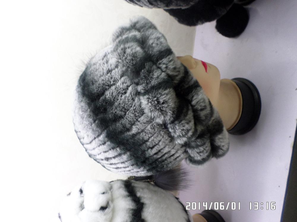 Ruffled fur hat rabbit(China (Mainland))