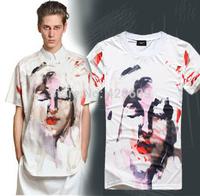 Free Ship Men's T Shirts Brand Cotton Short Sleeve Slim Tees Givency Men Summer Casual T-Shirt Male Fashion Mens Tops Wholesale