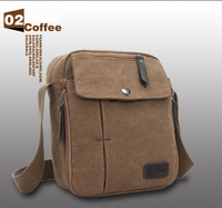 Men canvas portable messegner shoulder bag travel bag for travel/outdoor/shopping,3 colors(khaki/black/coffee) choice