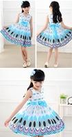 New 2014 sleeveless girl dress, casual summer princess dress girl bow, Children Clothing