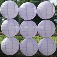 Free shipping 10pcs/lot 8''(20cm) Round paper lantern Light Purple paper lantern lamps festival wedding decoration party lantern