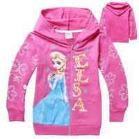 red Frozen Elsa Children Outerwear & coats Brand Cartoon Jackets Winter Autumn Baby Kids Hoodies Girls Clothing Roupas Infantil